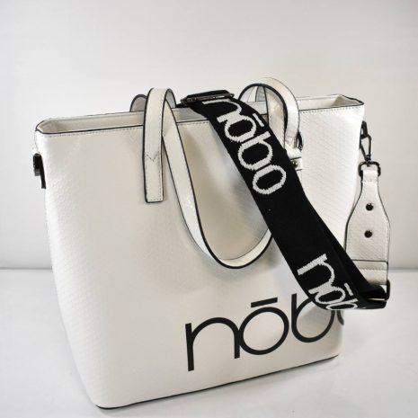 Veľká shopper dámska biela kabelka