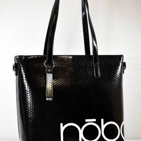 Veľká shopper dámska čierna kabelka NOBO N036