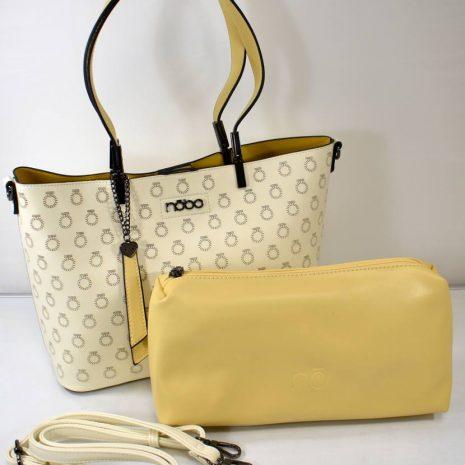 Dámska krémovo žltá kabelka na rameno