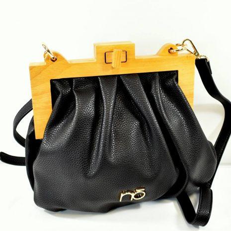 Elegantná crossbody dámska čierna kabelka NOBO