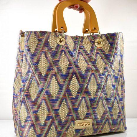 Dámska vzorová farebná kabelka do ruky