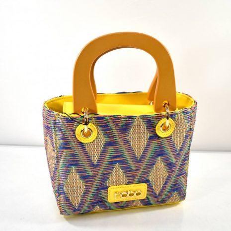Dámska mini kabelka do ruky žltá farebná NOBO N147