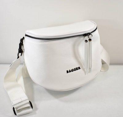 Športovo elegantná crossbody kabelka v tvare ľadvinky s nastaviteľným ramienkom krížom cez plece