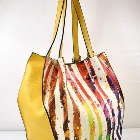 Dámska štýlová farebná kabelka na rameno