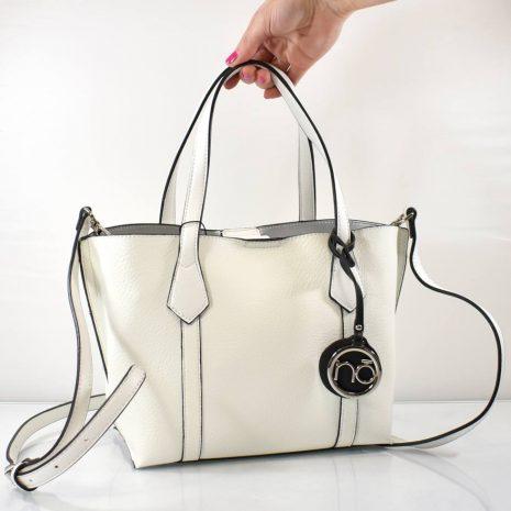 Elegantná biela menšia dámska kabelka do ruky