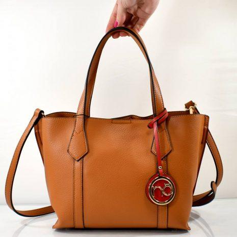 Elegantná hnedá menšia dámska kabelka do ruky NOBO