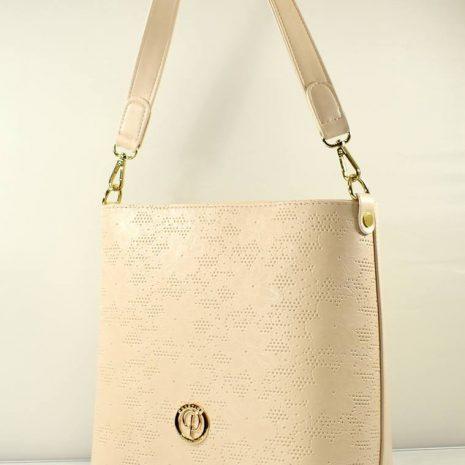 Elegantná krémová kabelka s ornamentmi PRESTIGE