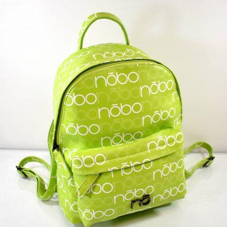Športový dámsky zelený popísaný ruksak NOBO