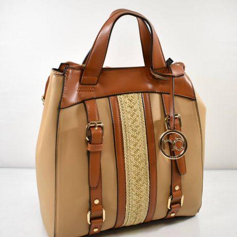 Športovo elegantný dámsky hnedý ruksak NOBO