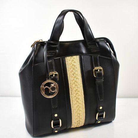 Štýlový batoh v čiernej farbe