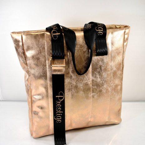 Praktická dámska medená shopper kabelka