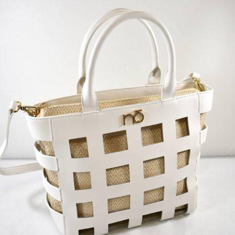 Elegantná biela dámska kabelka do ruky