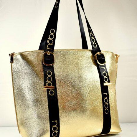 Praktická veľká dámska zlatá kabelka NOBO N207