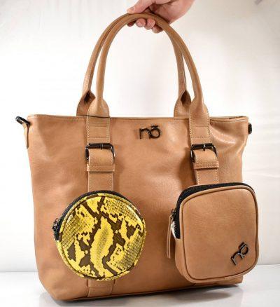 Shopper dámska kabelka na rameno s prídavným ramienkom a kapsami
