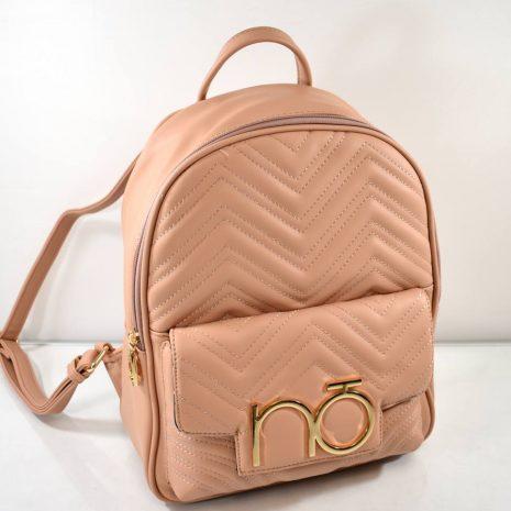 Elegantný dámsky pudrovo hnedý ruksak