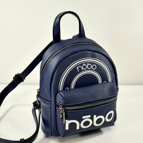 Dámsky menší modrý popísaný ruksak
