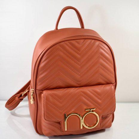 Športovo elegantný dámsky tehlový ruksak