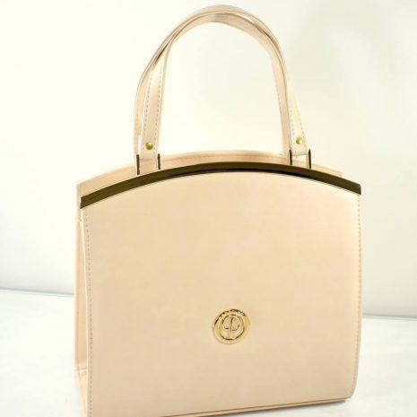 Elegantná dámska krémová kabelka PRESTIGE