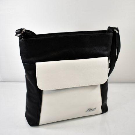 Crossbody dámska čierno biela kabelka