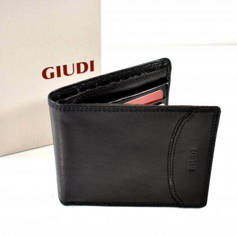 Pánska kožená peňaženka GIUDI čierna