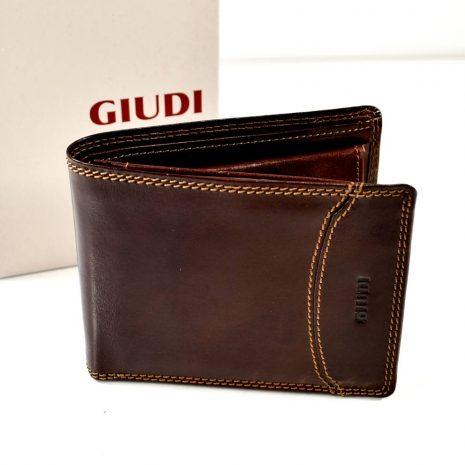Pánska elegantná kožená hnedá peňaženka