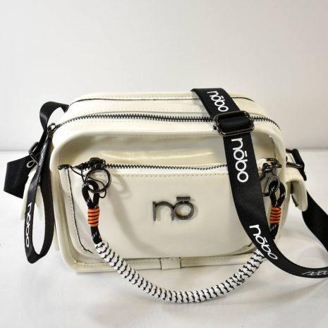 Dámska biela crossbody kabelka NOBO