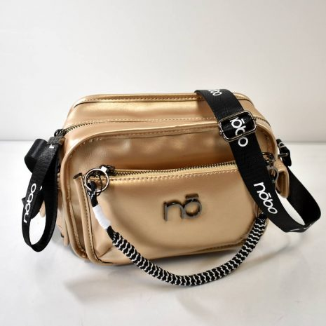 Dámska športovo elegantná zlatistá kabelka