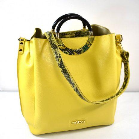 Štýlová elegantná dámska žltá kabelka