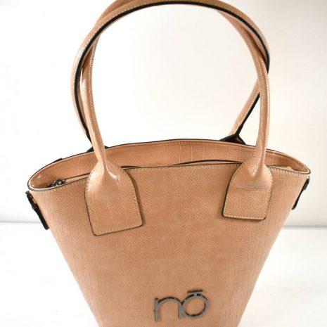 Elegantná dámska hnedá kabelka na rameno