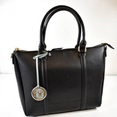 Praktická dámska elegantná čierna kabelka