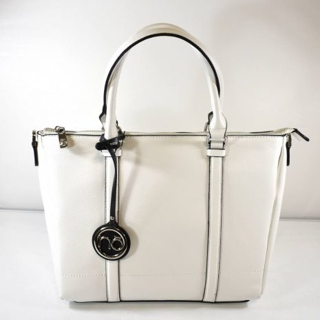 Praktická dámska elegantná biela kabelka