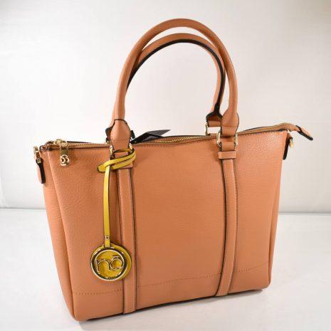 Praktická dámska elegantná hnedá kabelka