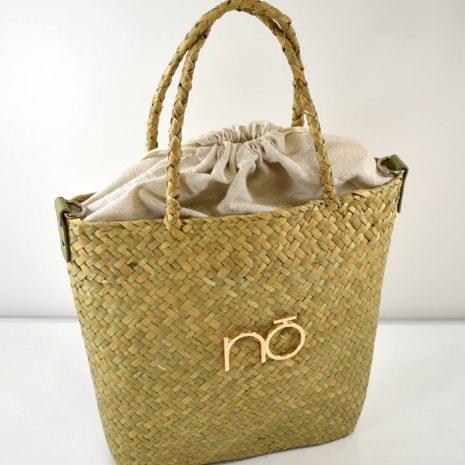 Letná slamená hnedá kabelka do ruky