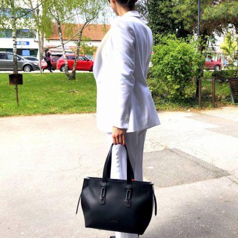 dámske kožené kabelky do práce biznis BAGGER