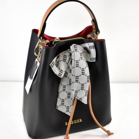 bagger čierne elegantné kabelky do ruky s prídavným ramienkom