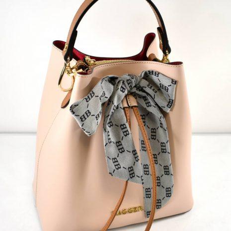 Dámska elegantná kožená pudrová kabelka BAGGER