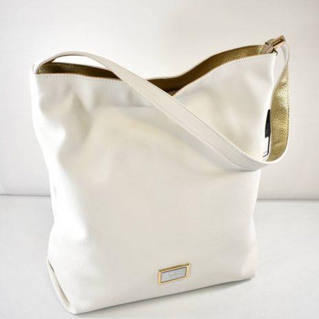 Praktická dámska kabelka na rameno biela