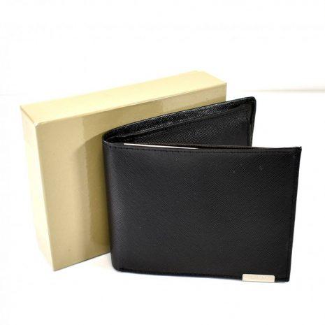Pánska elegantná kožená čierna peňaženka