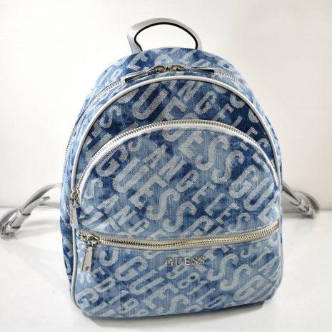 Dámsky športový riflový modrý ruksak GUESS