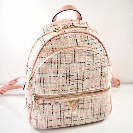 Dámsky ružovo pudrový ruksak GUESS látkový