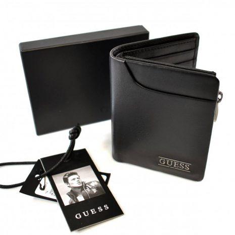 Pánska elegantná malá čierna peňaženka GUESS