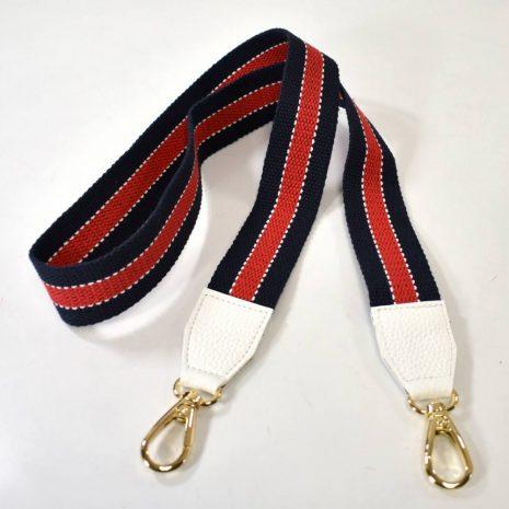 Prídavné ramienko na kabelky modro červené BAGGER