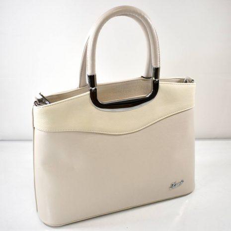 Elegantná dámska krémová kabelka KAREN