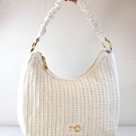 Dámska športovo elegantná biela kabelka NOBO