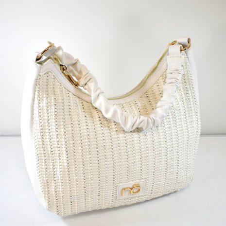 Dámska športovo elegantná biela kabelka
