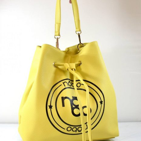 Dámska vaková žltá crossbody kabelka
