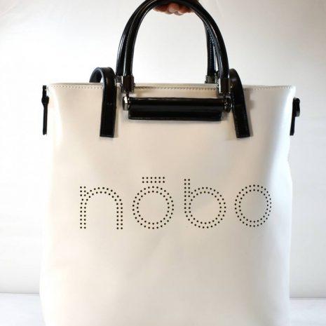 Veľká dámska shopper biela kabelka NOBO