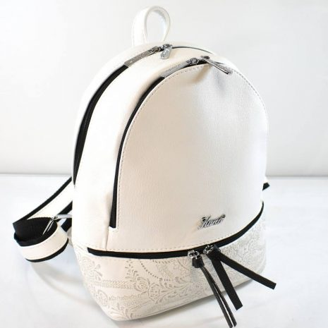 Elegantný dámsky bielo čierny ruksak