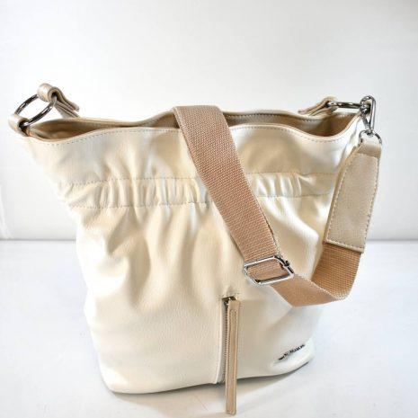 Dámska štýlová vaková biela kabelka