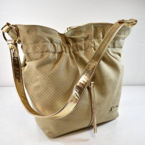 Dámska vaková štýlová zlatá kabelka